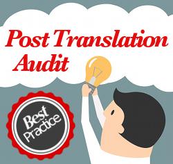 post translation audit best practice