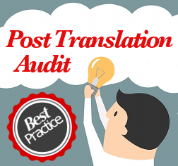 post translation audit best practice