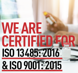 MediqTrans is ISO13485:2016 and ISO9001:2015 certified